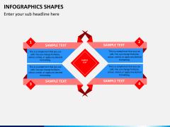 Infographic shapes PPT slide 23