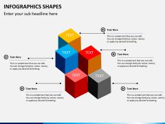 Infographic shapes PPT slide 25