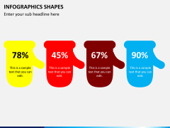 Infographic shapes PPT slide 3