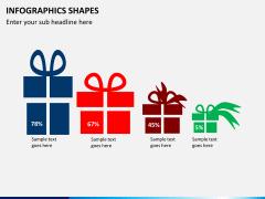 Infographic shapes PPT slide 4