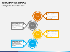 Infographic shapes PPT slide 43