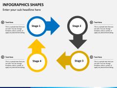 Infographic shapes PPT slide 44