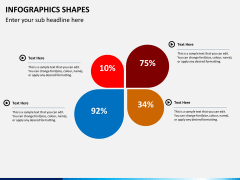 Infographic shapes PPT slide 48