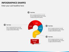 Infographic shapes PPT slide 6