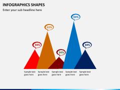 Infographic shapes PPT slide 7