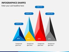 Infographic shapes PPT slide 8