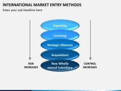 International Market entry methods PPT slide 6
