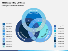 Intersecting circles PPT slide 1