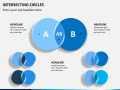 Intersecting circles PPT slide 2