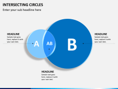Intersecting circles PPT slide 3