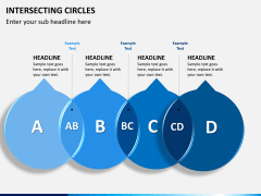 Intersecting circles PPT slide 5