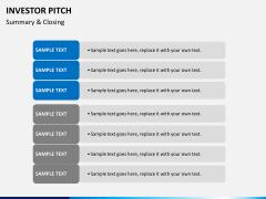 Investor pitch PPT slide 47