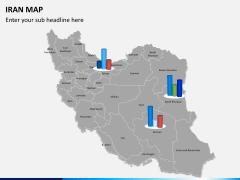 Iran map PPT slide 12