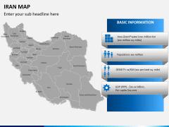 Iran map PPT slide 13