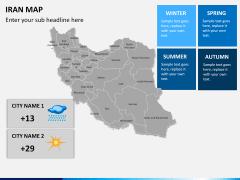 Iran map PPT slide 16