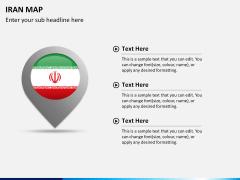 Iran map PPT slide 17