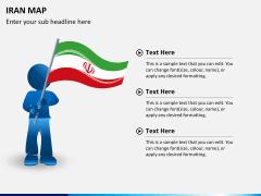 Iran map PPT slide 18
