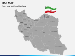 Iran map PPT slide 2