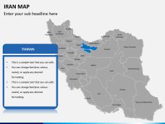 Iran map PPT slide 7
