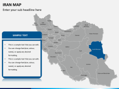 Iran map PPT slide 9