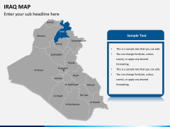 Iraq map PPT slide 11
