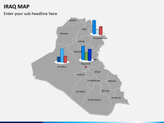 Iraq map PPT slide 13