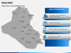 Iraq map PPT slide 14