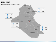 Iraq map PPT slide 15