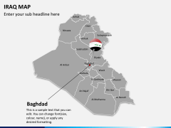 Iraq map PPT slide 16