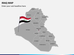 Iraq map PPT slide 2