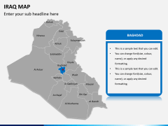 Iraq map PPT slide 8
