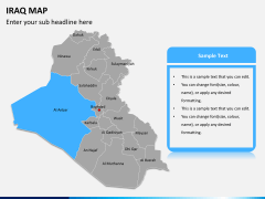 Iraq map PPT slide 9