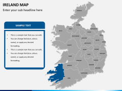 Ireland Map PPT slide 12