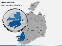 Ireland Map PPT slide 16