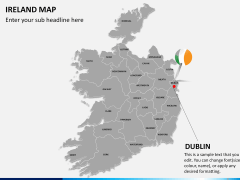 Ireland Map PPT slide 20