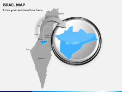 Israel Map PPT slide 12