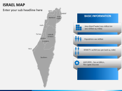 Israel Map PPT slide 15