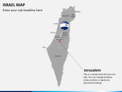 Israel Map PPT slide 17