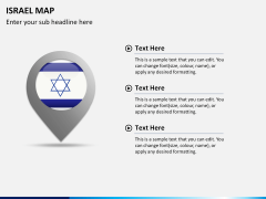 Israel Map PPT slide 20