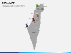 Israel Map PPT slide 3