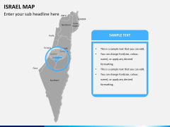 Israel Map PPT slide 9