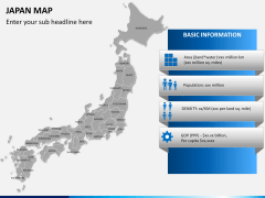 Japan map PPT slide 18