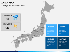 Japan map PPT slide 22