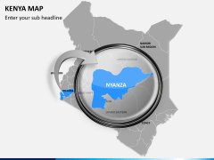 Kenya map PPT slide 15