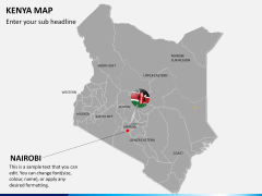 Kenya map PPT slide 19