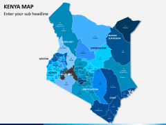 Kenya map PPT slide 2