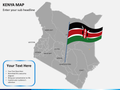 Kenya map PPT slide 20