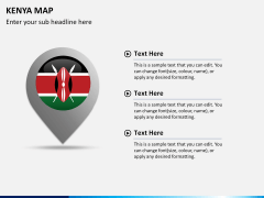 Kenya map PPT slide 22