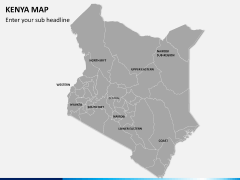 Kenya map PPT slide 3