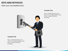 Keys and keyhole PPT slide 1